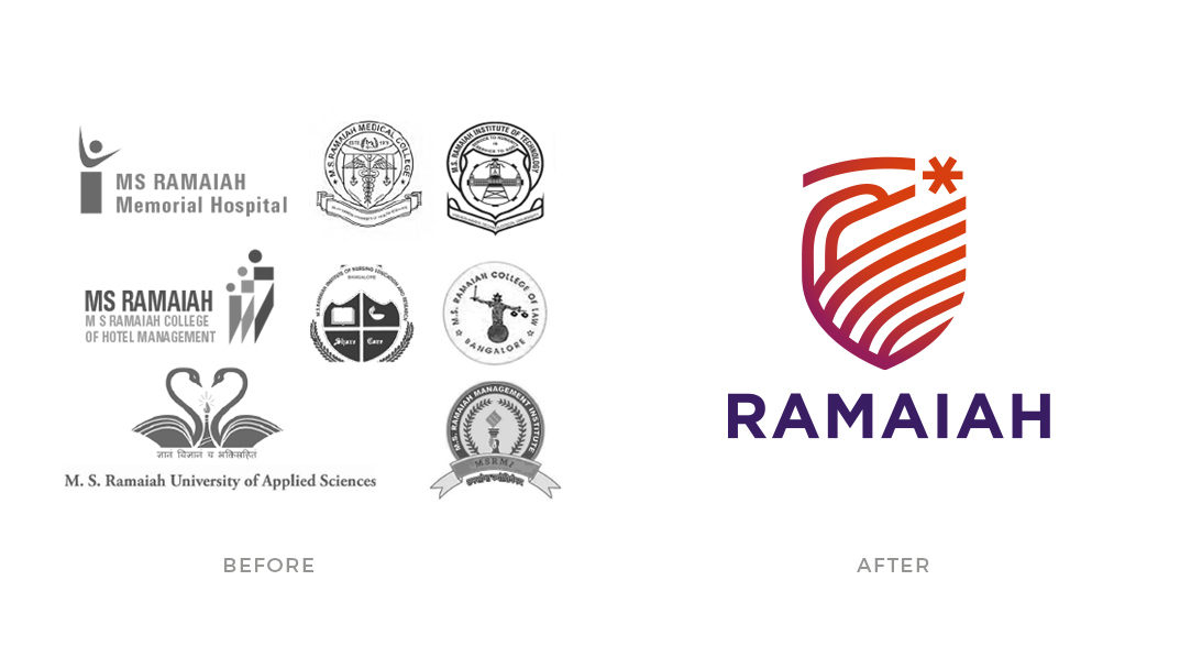 Cracker & Rush: Case Study - Ramaiah - Logo Before & After