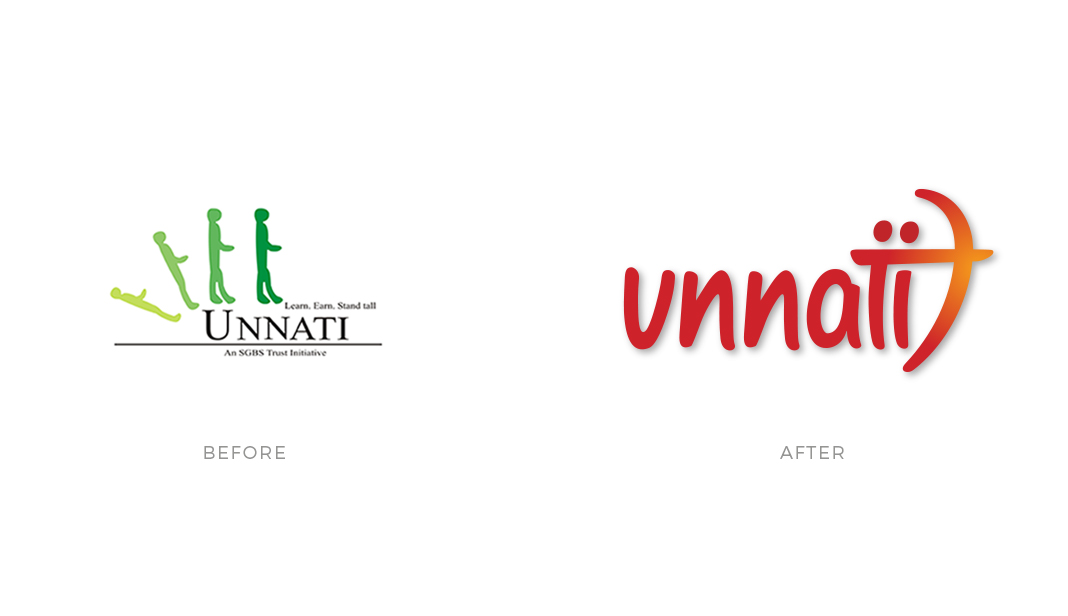 Cracker & Rush: Case Study - Unnati - Logo Before & After