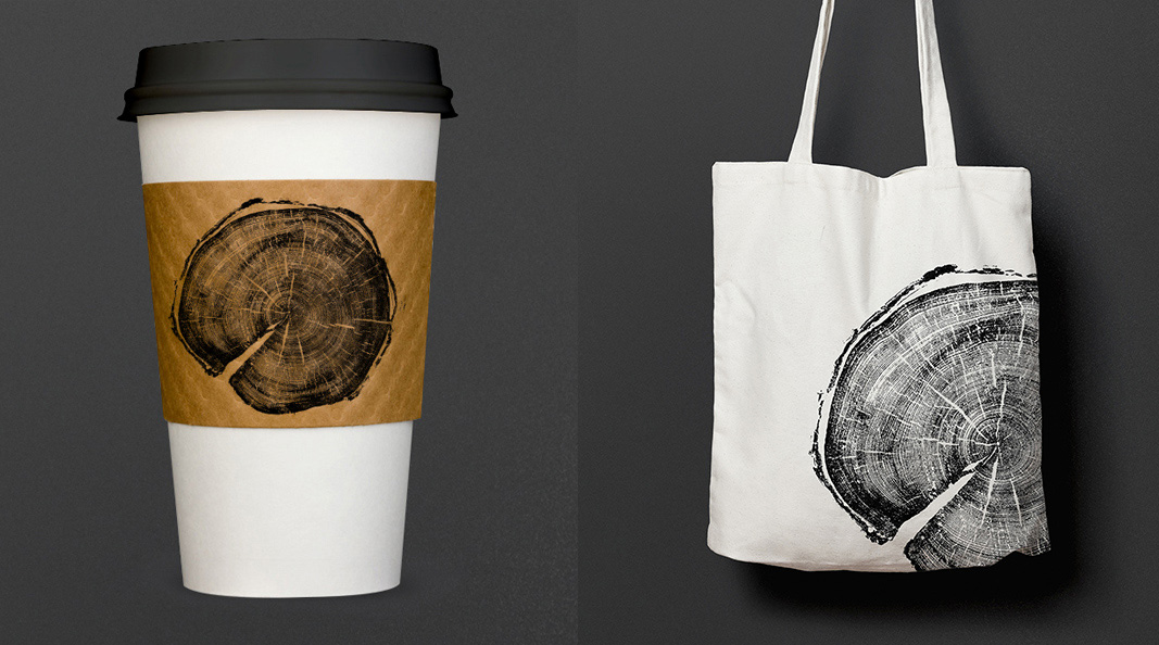 Cracker & Rush: Case Study - Tree of Life - Cup & Bag