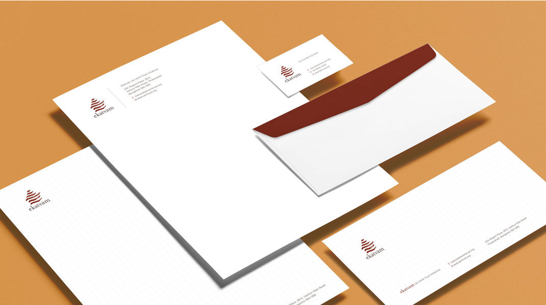 Cracker & Rush: Case Study - Ekatvam Trust - Stationary